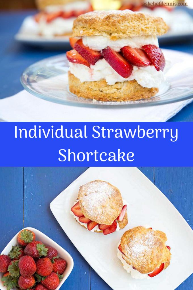 pinterest image for individual strawberry shortcake