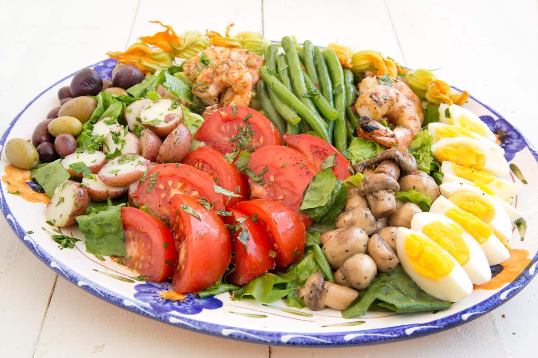 Nicoise Salad With Grilled Shrimp
