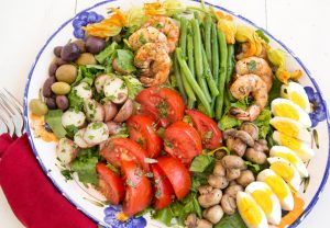 Nicoise Salad with Grilled Shirmp