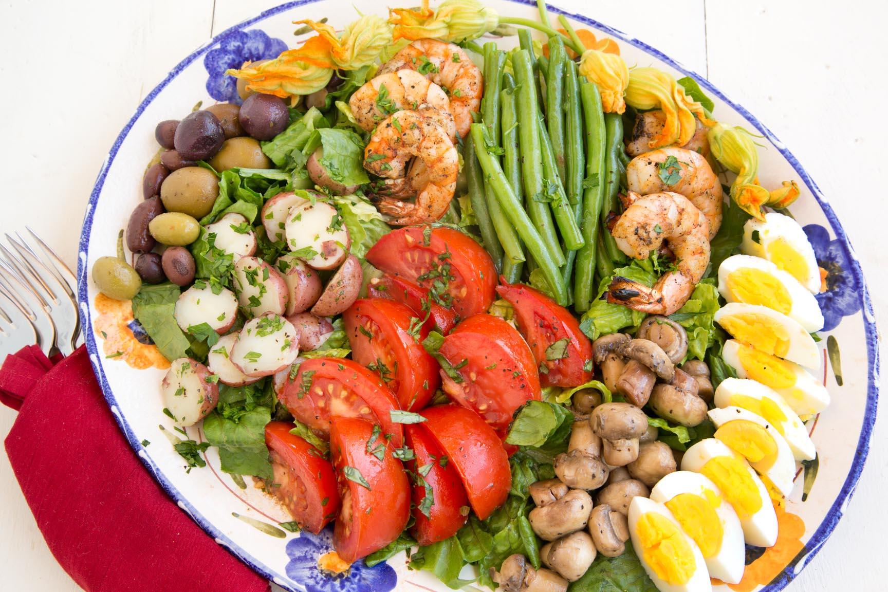 Nicoise Salad With Grilled Shrimp
