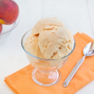 Grilled Peaches and Cream Gelato – National Ice Cream Month