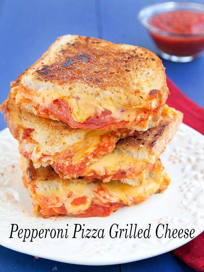 Pepperoni Pizza Grilled Cheese Sandwich Recipe Chef Dennis