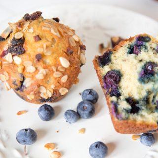 Blueberry museli muffins