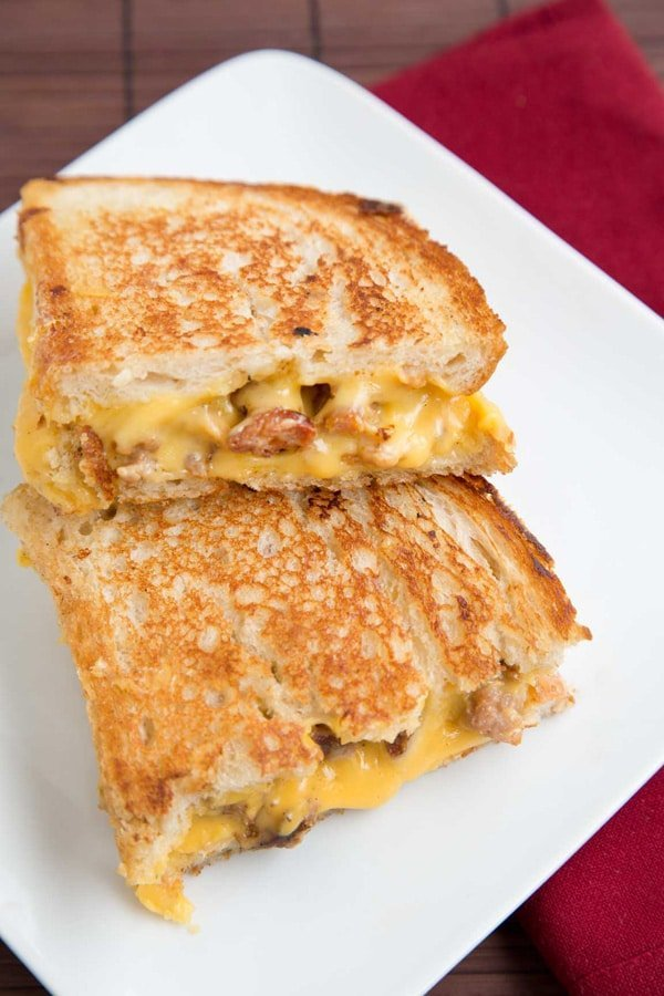 Sweet Sausage Grilled Cheese 4