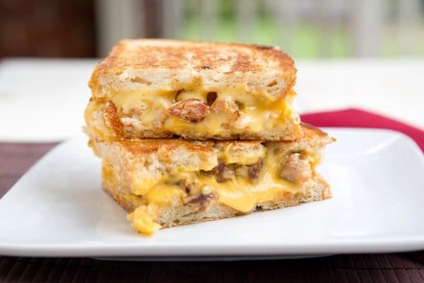 Sweet Sausage Grilled Cheese