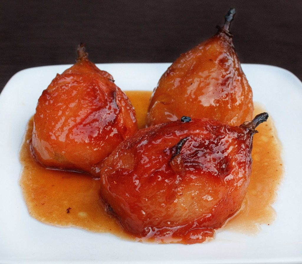 Honey Glazed Roasted Pears