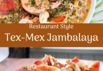 pinterest image for Tex-Mex Jambalaya