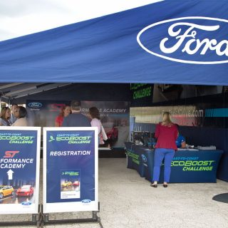 ford booth at a Daytona speedway
