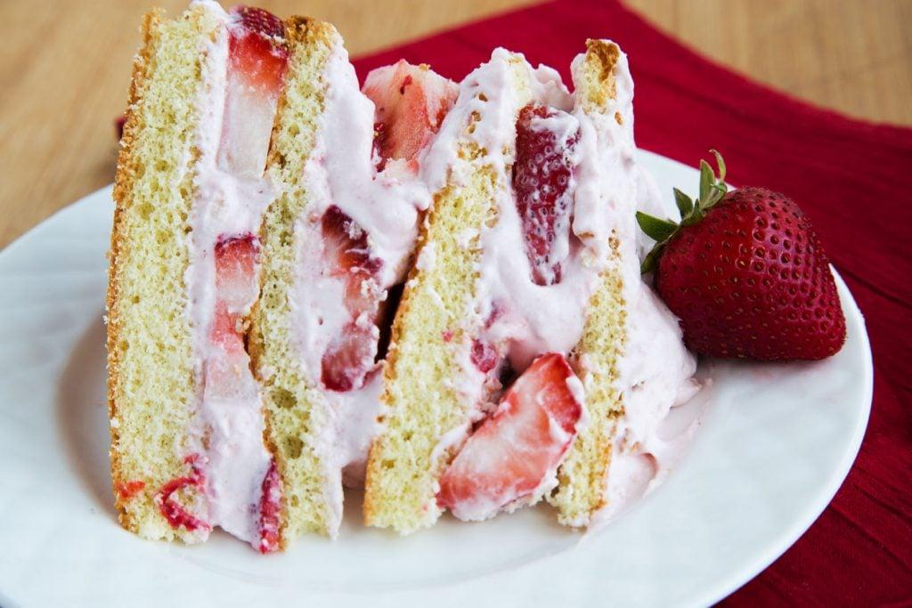 Strawberries and Cream Cake 5