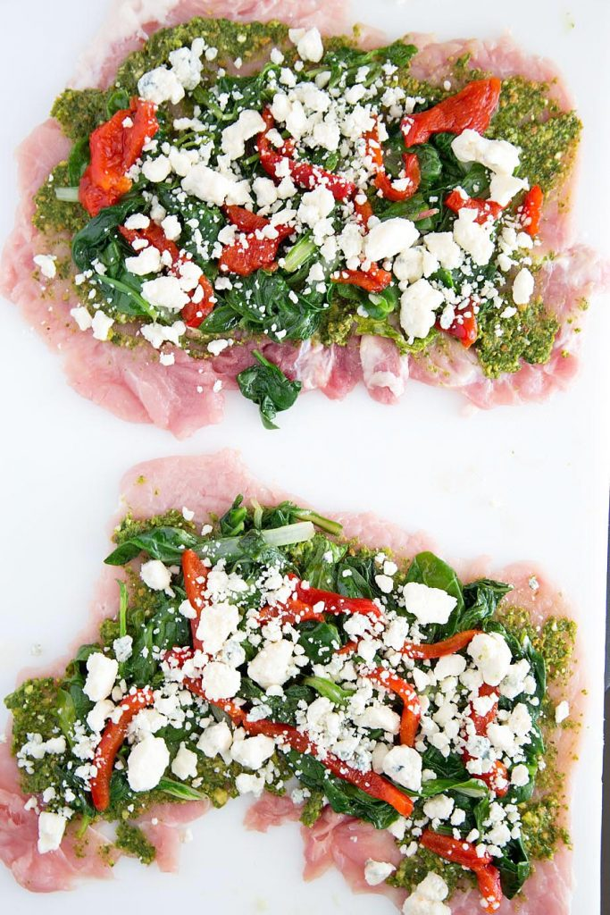 sauteed super greens, roasted red peppers, gorgonzola crumbles