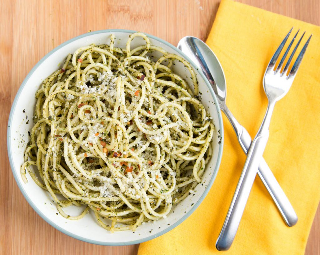 spaghetti alla Pesto Genovese