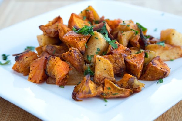 Roasted Sweet Potato and Apples, Thanksgiving recipes