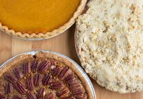 Pumpkin, Pecan and Apple Crumble Thanksgiving Pies