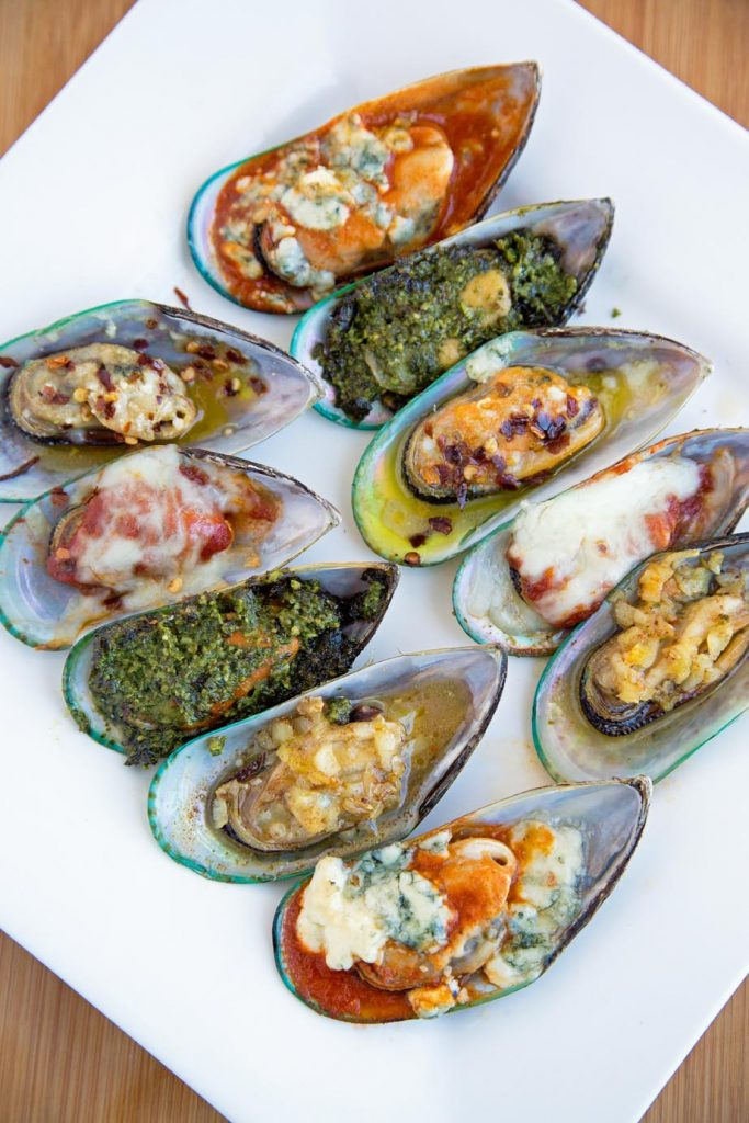 Appetizers, New Zealand Mussels 5 ways