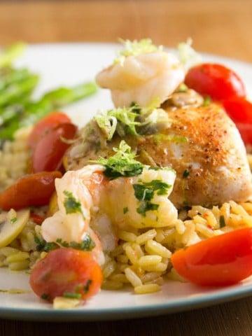 asparagus and rice