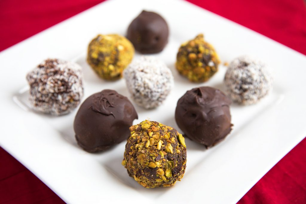 Chocolate Ganache Truffles and Treats for Valentines Day