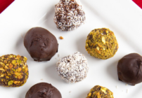pinterest image for chocolate truffles