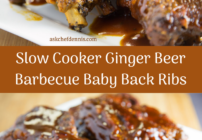 pinterest image for slow cooker barbecue baby back ribs