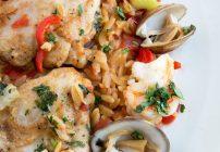 Chicken and Shrimp Orzo Paella