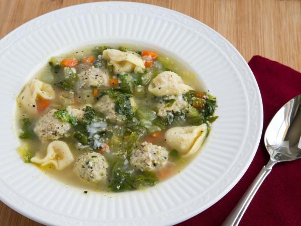 Italian Wedding Soup with tortellini