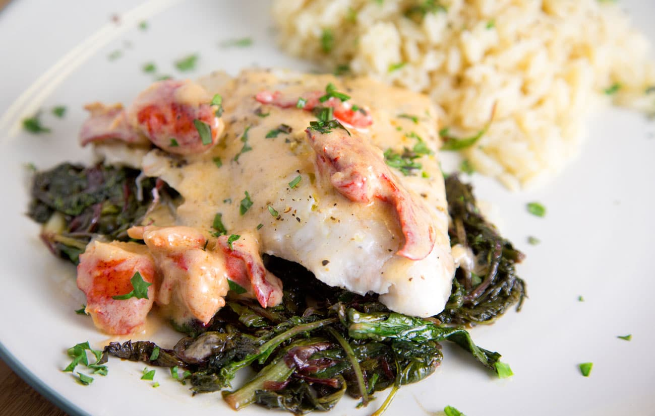 Red Snapper With A Lobster Cream Sauce Recipe Chef Dennis