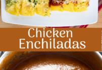 pinterest image for chicken enchiladas