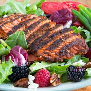 Healthy and Delicious Blackened Salmon Salad