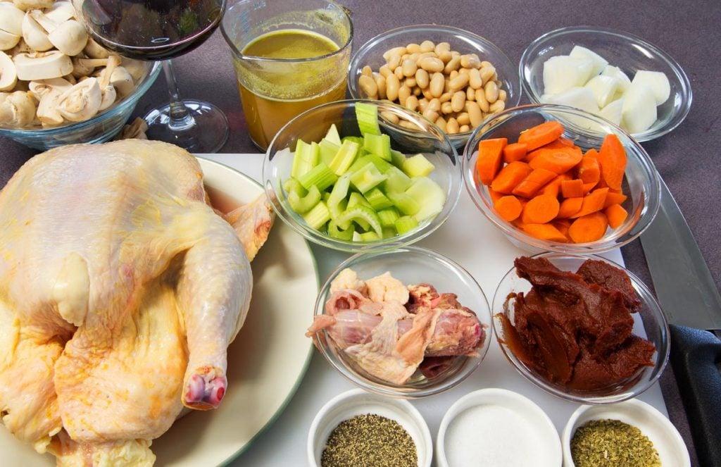 Chicken Merlot prep