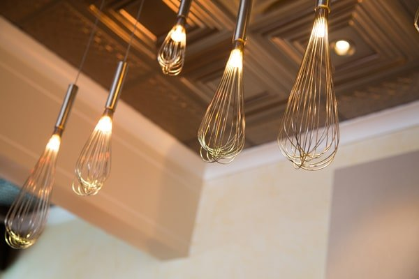 Wire whip light fixture