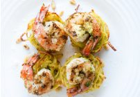 Pasta Nests with Pan Seared Shrimp – Entertaining with Pizzazz