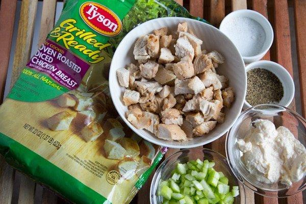 ingredients to make chicken Salad