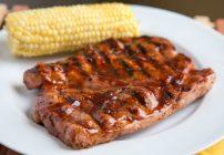 Blueberry-Bourbon Barbecue Pork Steaks