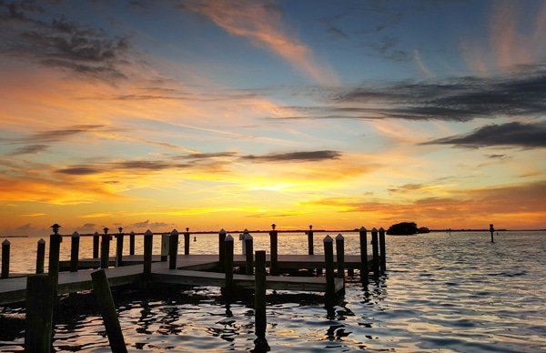 Sunset On The Docks At Tarpon Lodge Pine Island