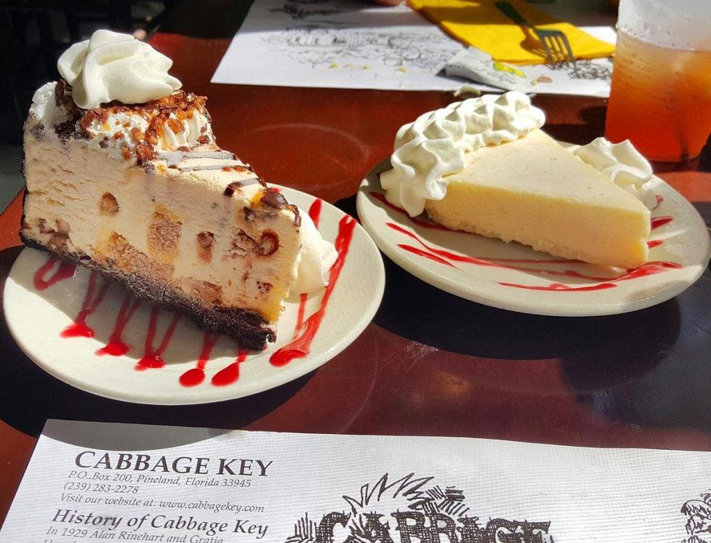 Cabbage Key, key lime pie, caramel turtle fudge pie