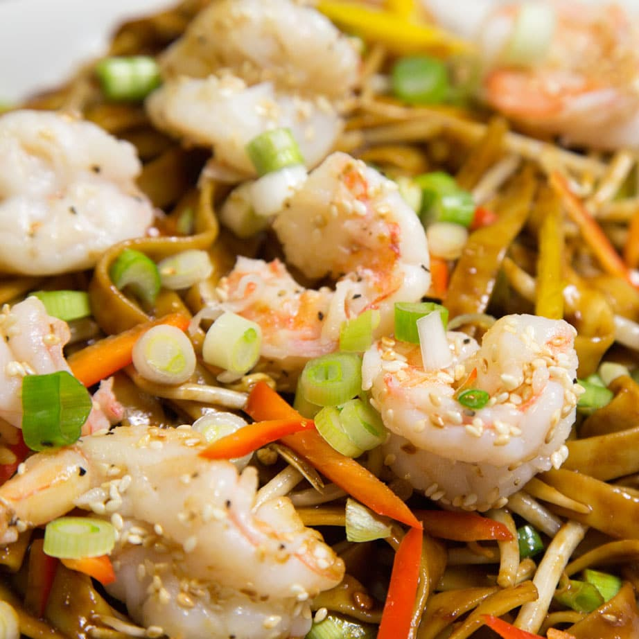 Dan Dan Noodles with Shrimp - A Culinary Journey With Chef Dennis