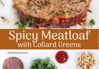 Pinterest image for spicy meatloaf