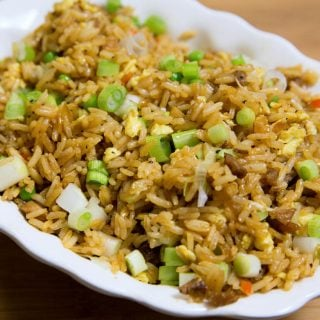 Pork Fried Rice and Chinese Barbecued Pork