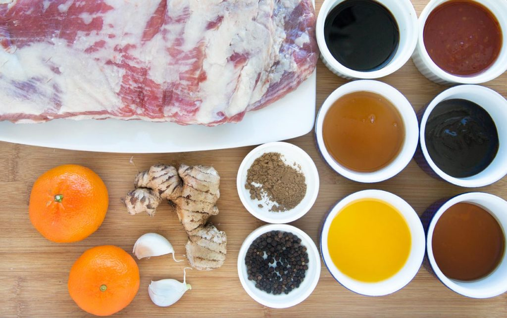 Slow cooker, Noble Juice, Barbecue, Asian, Chinese, Tangerine Sticky Ribs