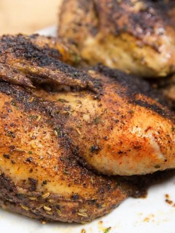 blackened chicken, roasted
