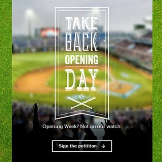 "Let's ""Take Back Opening Day"" – Baseball is an American Pastime"