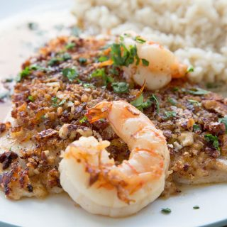 Pecan Encrusted Red Snapper with a Lime Margarita Sauce