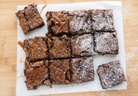 Pecan Brownies with White Chocolate Chips
