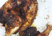 pinterest image for blackened chicken