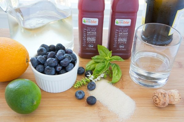 Noble Juice, honeybell, blueberry, sangria, Florida