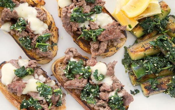 Beef Tartines with zucchini au Pistou by Blue Apron