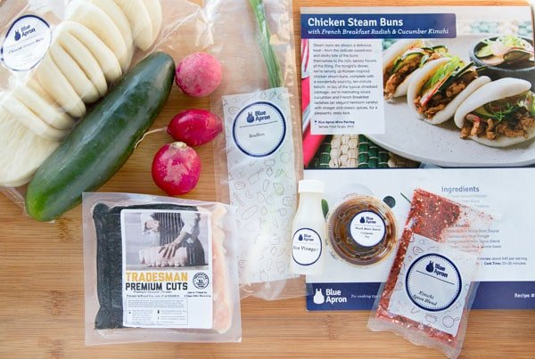 Chicken Steam Buns Mise en place by Blue Apron