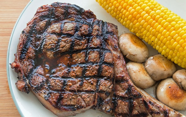 how to grill a steak house style ribeye steak chef dennis