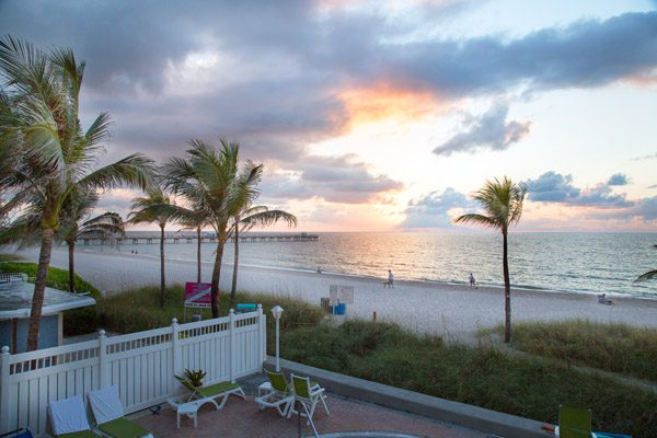 Sunrise from my balcony at Windjammer Resort, Lauderdale by the Sea, Florida