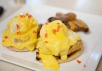 Crab Cake Benedict and Echo Oceanfront Restaurant : The King and Prince Beach & Golf Resort