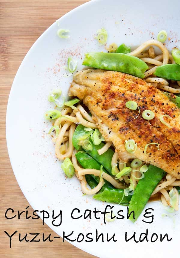 Crispy Catfish & Yuzu-Kosho Udon by Blue Apron